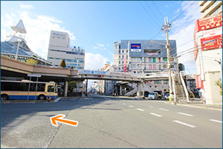 176号線 大阪市内方面からお越しの場合