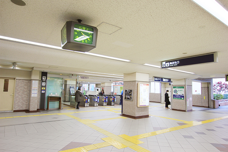 ④豊中駅に到着