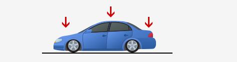車高が低い車、車高が下がる車